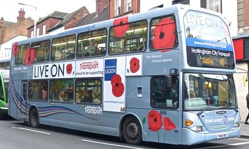 YN55 NGY 'Nottinghham City Transport' 698 Scania N94UD / East Lancs. Dennis Basford's railsroadsrunways.blogspot.co.uk