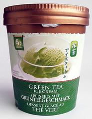 Groene thee ijs