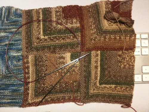 Third colour of mitred square sampler. by natalief