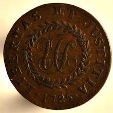Nova Constellatio copper 1785 obverse