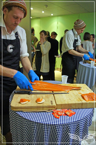 The Establishing Shot: Headhunters Nordic Experience Screening - Norwegian Chef Ole-Martin Hansen serving Juniper & Beech smoked salmon by Craig Grobler
