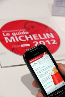 Guide Michelin, Nokia et NFC