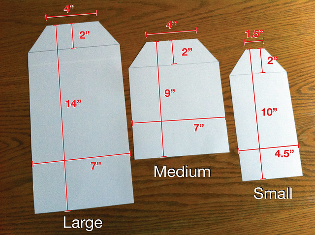 Reusable food bags-dimensions