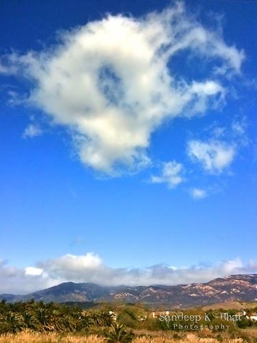 california blue cloud mountains eye hills doughnut santaynez ucsb formations 3gs goleta iphone eyeinthesky