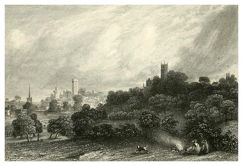 018-Warwick-Kenilworth-Finden's landscape illustrations of the Waverley novels.. 1834-varios artistas