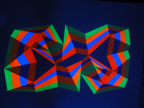 Ribbon #4 under uv by Carl Cashman