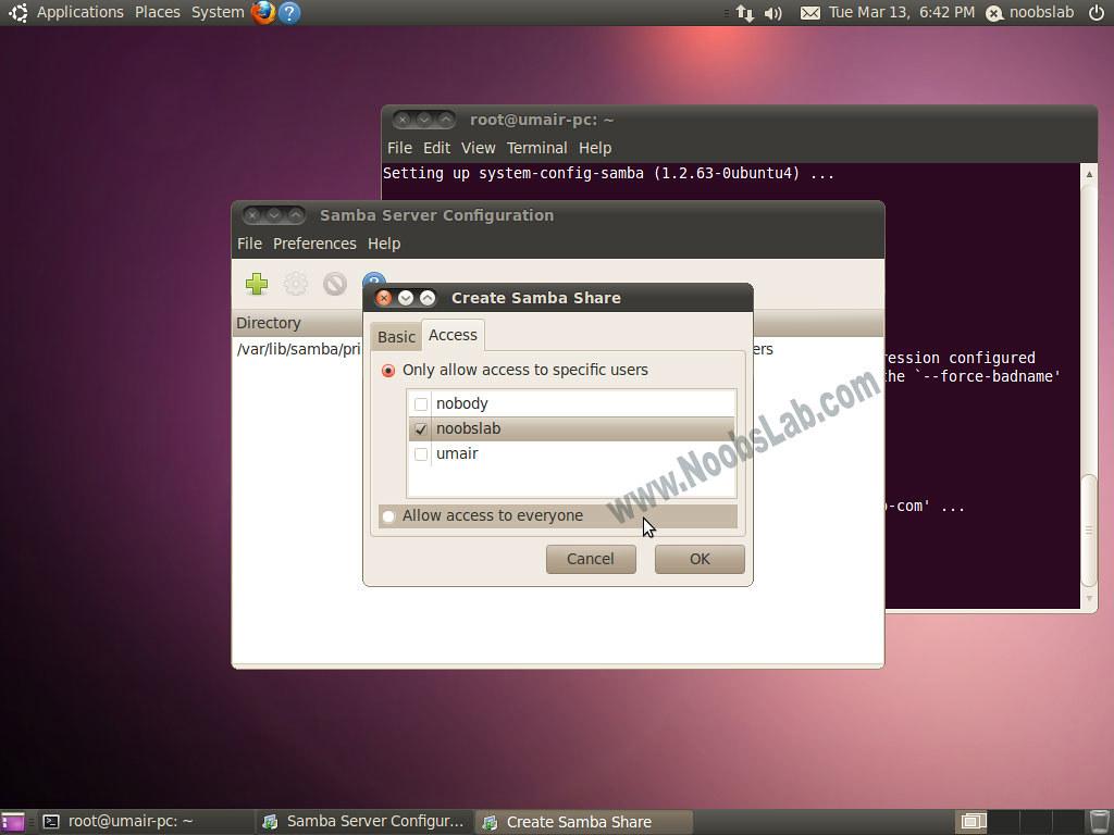 linux samba