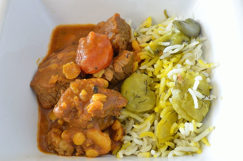 Gheymeh Beef Stew and Fava Bean Dill Rice