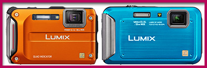 Panasonic LUMIX DMC-FT4 and FT20 from the Tough and Active series.
