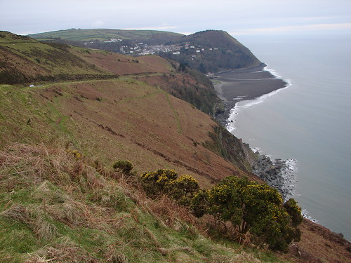 Lynmouth from Countisbury Hill.