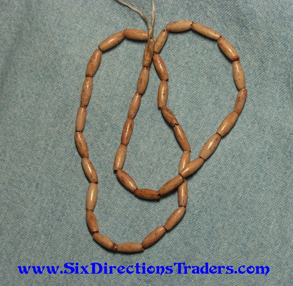 Walnut Tinted Bone Beads