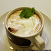Hot Chocolate with mint, mint leaves, cinnamon stick and whipped cream    MG 0361