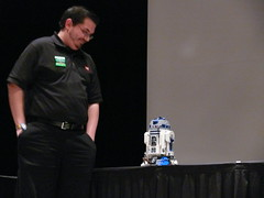 Kevin Hinkle and R2-D2