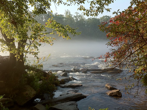 atlanta mist water sunrise river hdr iphone chattahoochee