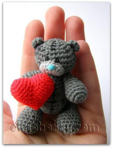 Teddy Bear with Heart Crochet Pattern, Teddy Bear Crochet Pattern ... | 500x381