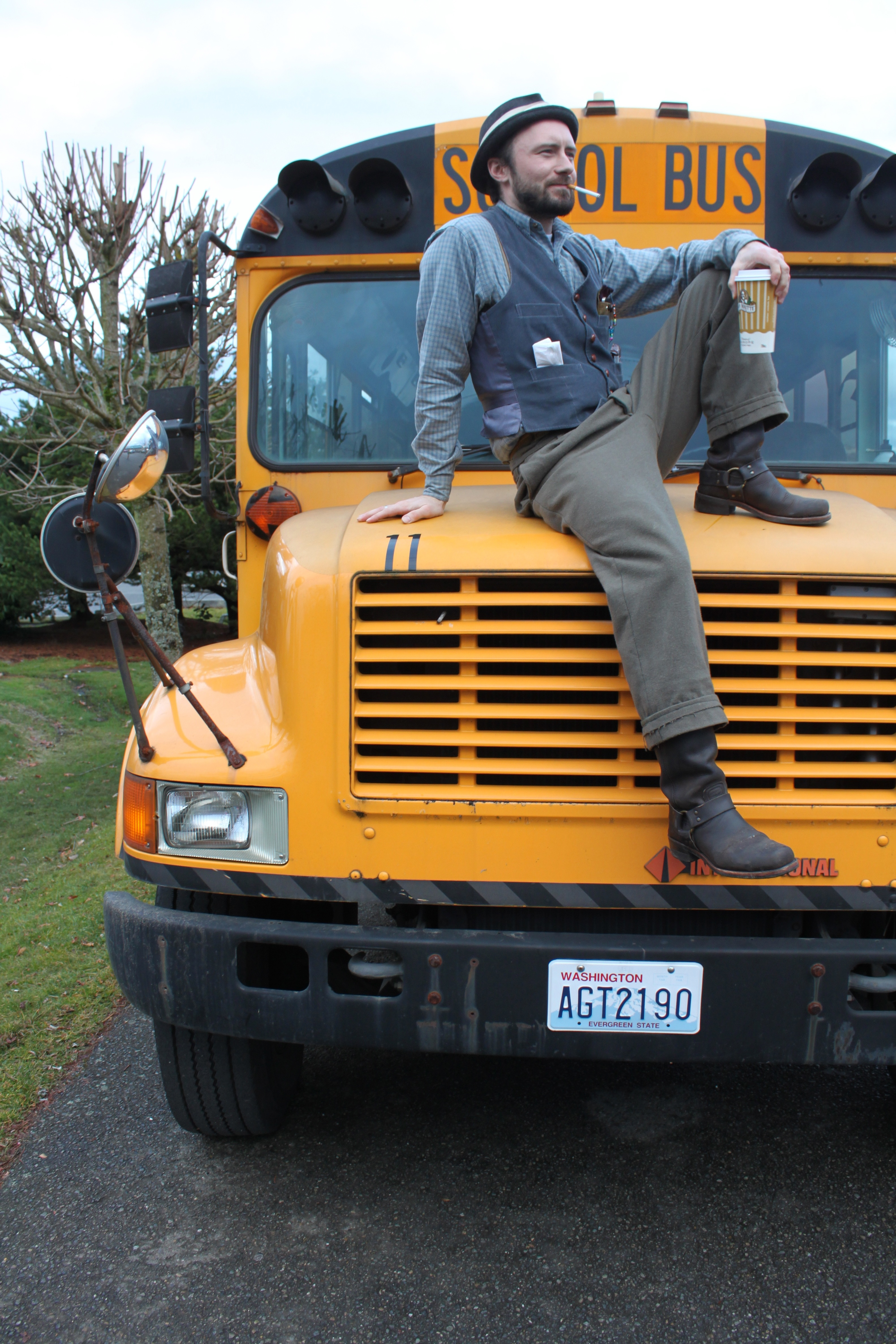 Seattle to portland craigslist rideshare in a school bus flickr photo sharing for Craigslist tacoma farm and garden