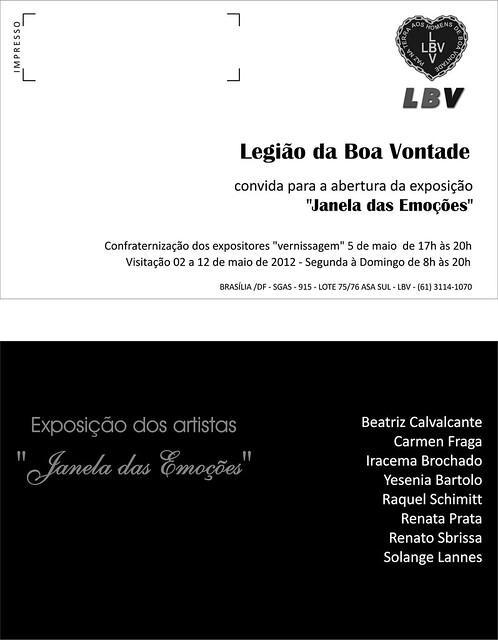 "CONVITE - expo coletiva LBV 2012 ""Janela das Emoções"""