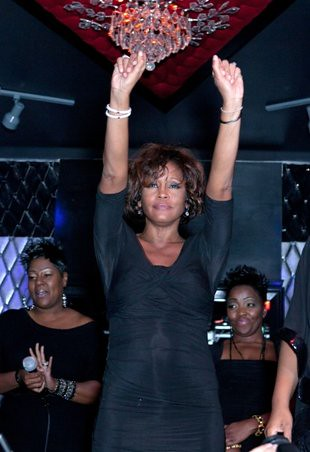 Whitney Houston after her last impromtu performance in Hollywood, California on Thursday, February 9, 2012. She was found dead in the Hollywood Hilton on February 11. by Pan-African News Wire File Photos