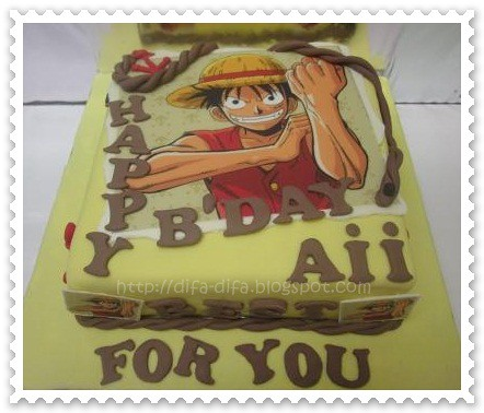 Birthday cake Luffy for Aii by DiFa Cakes