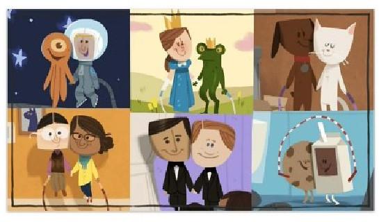 San Valentín Google Doodle