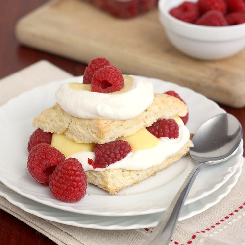 Meyer Lemon Shortcakes with Meyer Lemon Curd