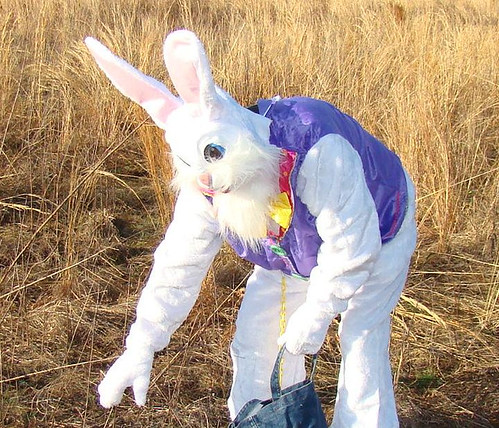 The Easter Bunny hides eggs at Belle Isle State Park