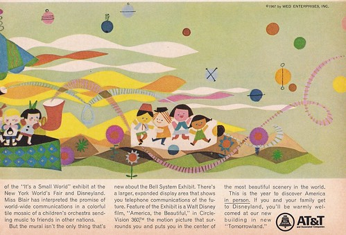 Mary Blair at&t mural ad 1967 - Part 2