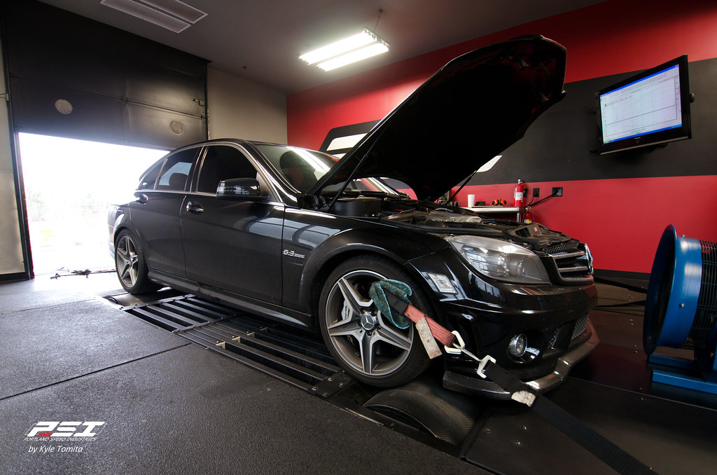 2008 C63 AMG Sedan on the dyno at PSI