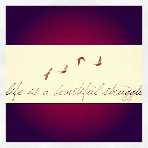 Life Is A Beautiful Struggle #beautiful #life #struggle