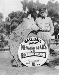 Sign announcing a baseball game: Sebring, Florida