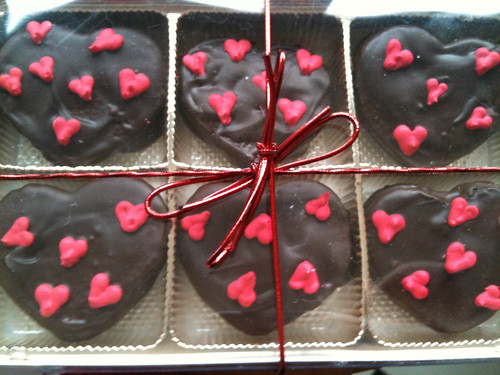 chocolate covered chocolate orange oreo hearts