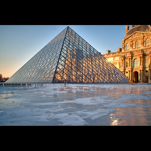 Louvre on ice   Design d'affiches