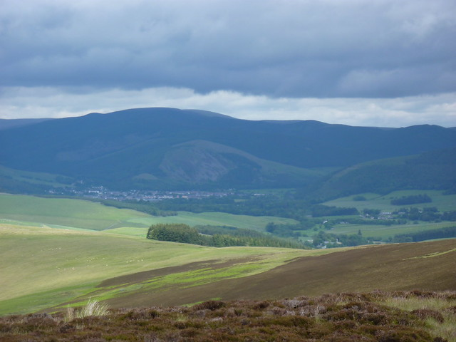 Innerleithen in the distance