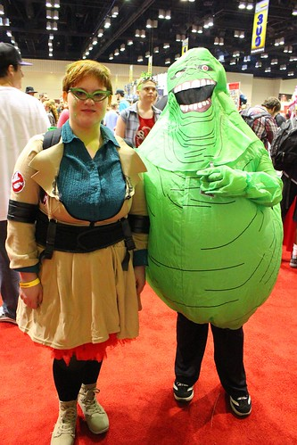 Janine and Slimer - MegaCon 2012