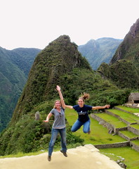 Megan and Lacey at Machu Picchu