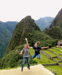 Megan and Lacey at Machu Picchu