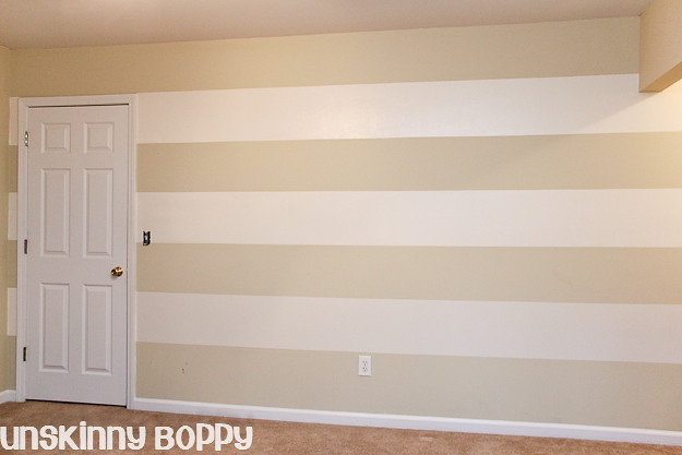 The Lazy Girl's Timesaving Tips For Painting Wall Stripes - Unskinny Boppy