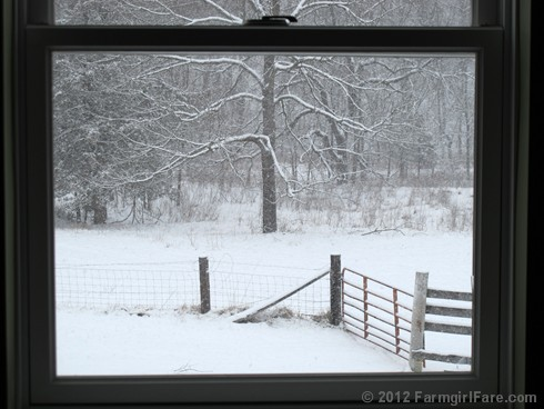 Snowfall through the upstairs windows 10 - FarmgirlFare.com