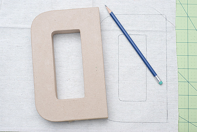 fabric covered letters 1