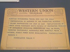 Telegram from Buckminster Fuller