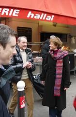 Marché Guy Môquet avec les militants du 17e et 18e et Bertrand Delanoë - Fev 2012