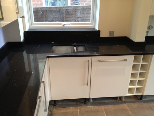 Rustoleum Countertop Paint Earth : Premium Black Mirror Quartz Countertops installed - SPM Granite
