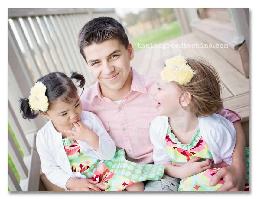 Nick with the girls on Easter BLOG