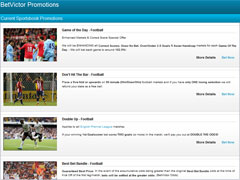 Betvictor Sports Betting Promotions