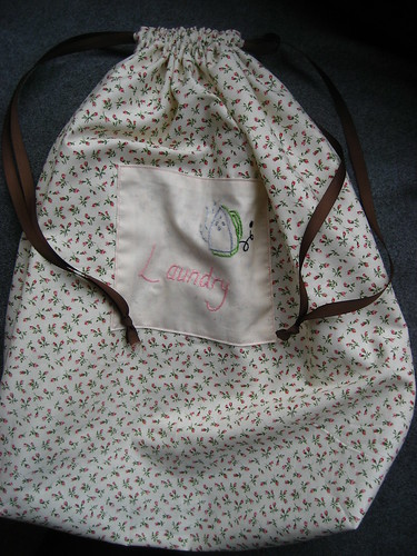 Sarah's laundry bag