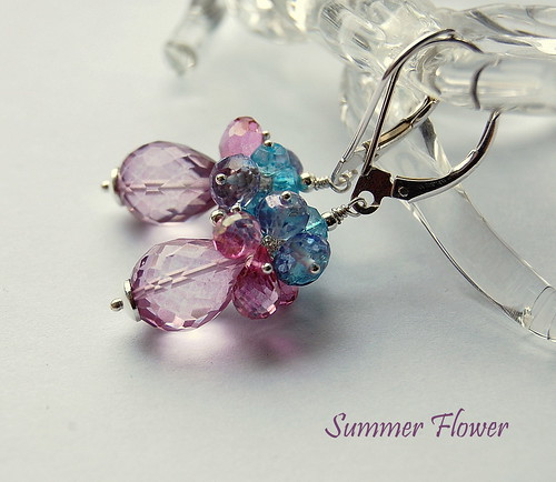 Summer Flower Earrings by gemwaithnia