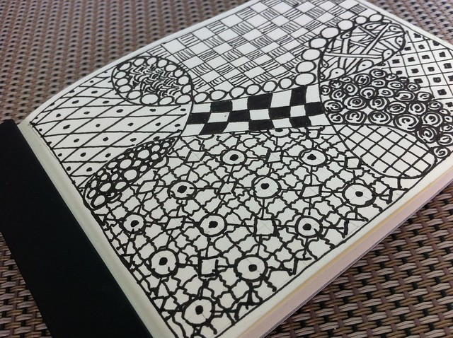 First Zentangle - Oblique
