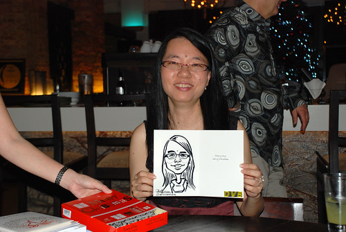 caricature live sketching for DVB Christmas party - 18