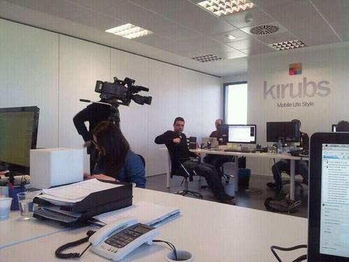 RTVE1 en nuestras oficinas. Kirubs.