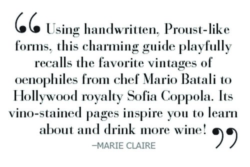 Marie Claire quote on Wine Questionnaire book